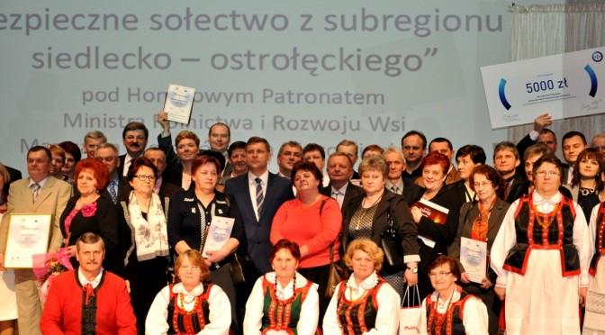 Reprezentantki Borzych na gali wręczenia nagrody