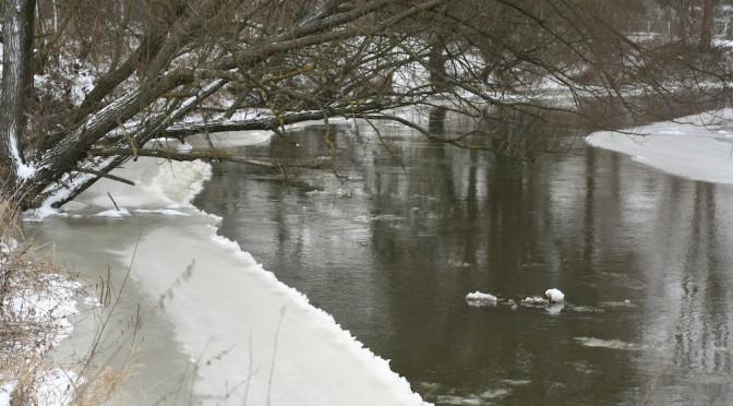 Most na Liwcu zimą